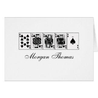 Casino Night Poker Royal Straight Flush Spades Card
