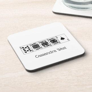 Casino Night Poker Royal Straight Flush Spades Coaster