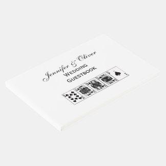 Casino Night Poker Royal Straight Flush Spades Guest Book