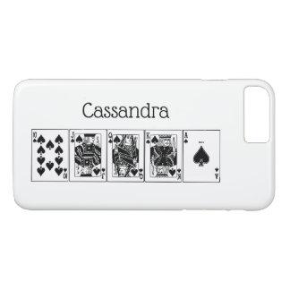 Casino Night Poker Royal Straight Flush Spades iPhone 8 Plus/7 Plus Case
