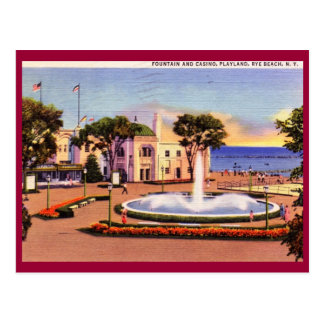 Casino, Playland, Rye, New York Vintage Postcard