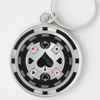 Casino Poker Chip Keychain