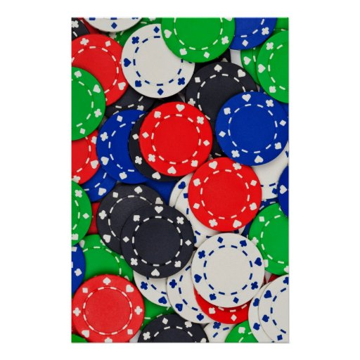 Casino poker chips posters