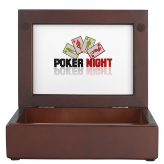 Casino Poker Keepsake Box