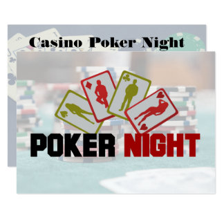Casino Poker Night Party Invitation