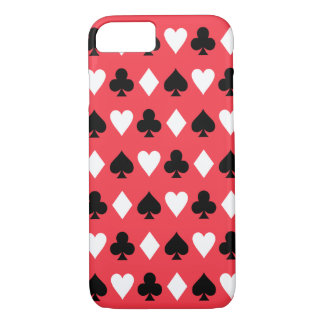 Casino Poker Playing Card Symbols Pattern iPhone 7 Case