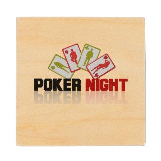 Casino Poker Wood Coaster