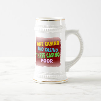 casino poor beer stein