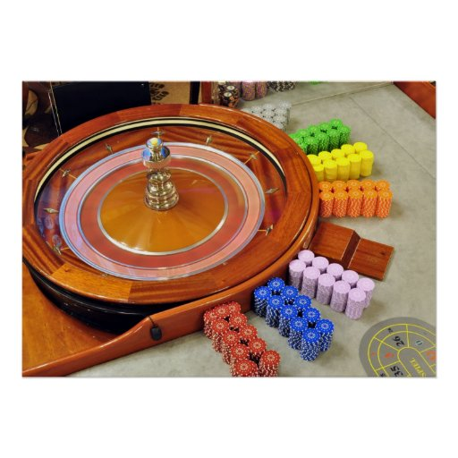 casino roulette spinning rotate gambling posters