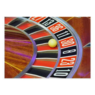 casino roulette wheel ball number 30 gambling poster