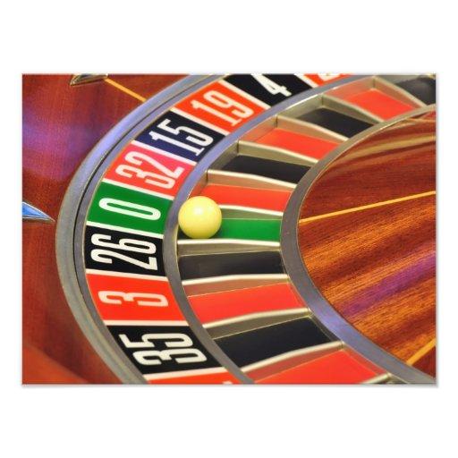 casino roulette wheel ball number zero gambling photo print