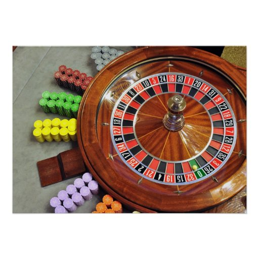 casino roulette wheel ball number zero gambling posters