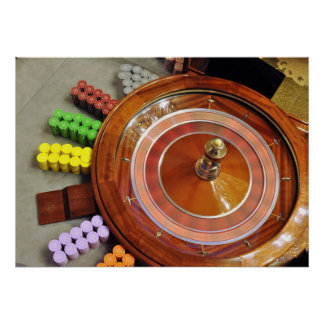 casino roulette wheel spinning rotate gambling poster