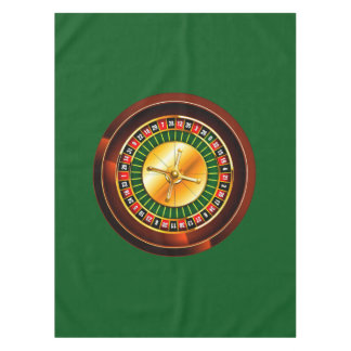Casino Roulette Wheel Tablecloth