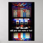 Casino Slot Machine Lucky 7  Personalised Poster
