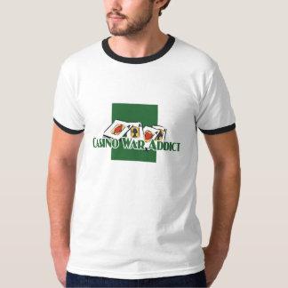 Casino-War Addict's ringer-t Tee Shirts