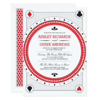 Casino Wedding Invite by Origami Prints
