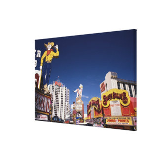 Casinos and hotels in Las Vegas Canvas Print