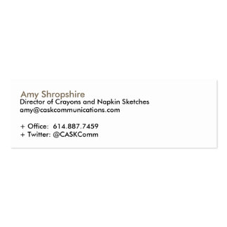 CASK Communications Double-Sided Mini Business Cards (Pack Of 20)