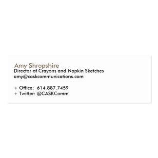 CASK Communications Business Card Templates