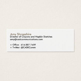 CASK Communications Mini Business Card