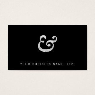 Caslon Bold Italic Ampersand White Business Card