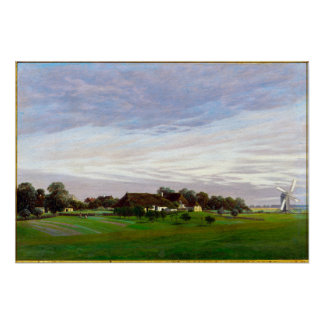 Caspar David Friedrich Flat Countryside Poster