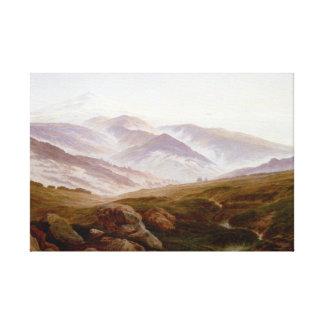 Caspar David Friedrich Memories of Riesengebirge Canvas Print