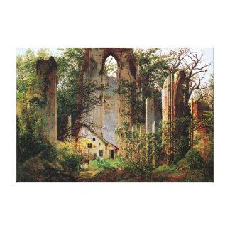 Caspar David Friedrich Monastery Ruins Eldena Canvas Print