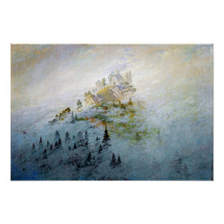 Caspar David Friedrich Morning Mist in Mountains Poster