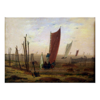 Caspar David Friedrich Morning Poster
