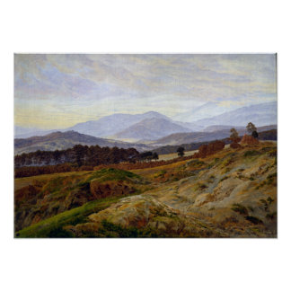 Caspar David Friedrich Mountain in Riesengebirge Poster