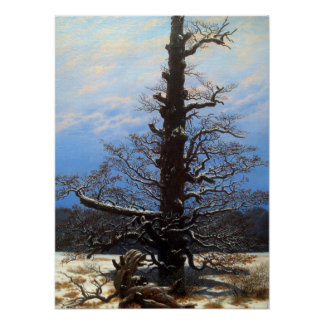 Caspar David Friedrich Oak in Snow Poster