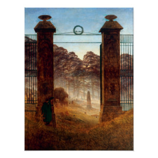 Caspar David Friedrich The Cemetery Poster
