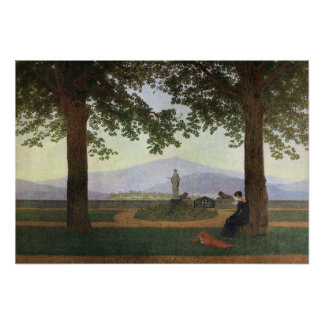 Caspar David Friedrich The Garden Terrace Poster