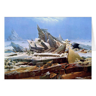 CASPAR DAVID FRIEDRICH - The sea of ice 1824 Card