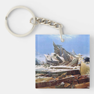 CASPAR DAVID FRIEDRICH - The sea of ice 1824 Key Ring