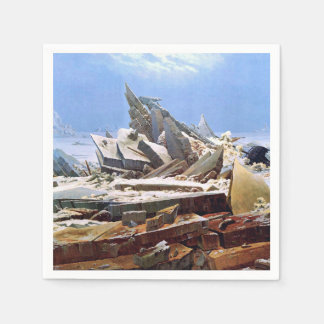 CASPAR DAVID FRIEDRICH - The sea of ice 1824 Paper Napkin