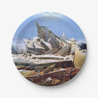 CASPAR DAVID FRIEDRICH - The sea of ice 1824 Paper Plate