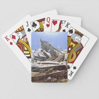 CASPAR DAVID FRIEDRICH - The sea of ice 1824 Poker Deck