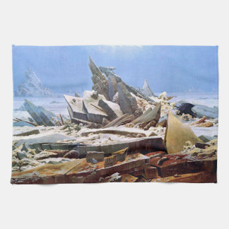 CASPAR DAVID FRIEDRICH - The sea of ice 1824 Tea Towel