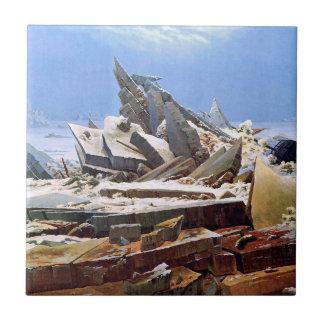 CASPAR DAVID FRIEDRICH - The sea of ice 1824 Tile
