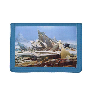 CASPAR DAVID FRIEDRICH - The sea of ice 1824 Tri-fold Wallets