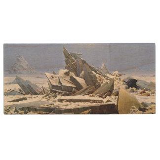 CASPAR DAVID FRIEDRICH - The sea of ice 1824 Wood USB Flash Drive