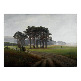 Caspar David Friedrich The Times of Day Midday Poster