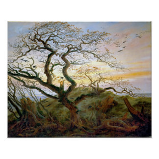 Caspar David Friedrich The Tree of Crows Poster