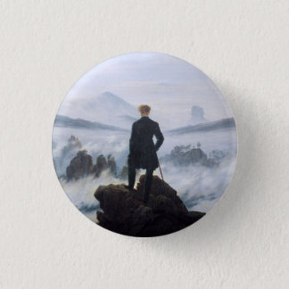 CASPAR DAVID FRIEDRICH - Wanderer above the sea 3 Cm Round Badge