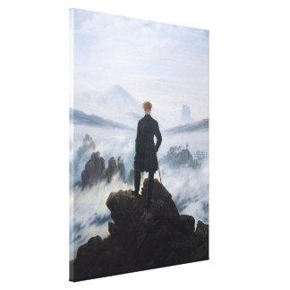 CASPAR DAVID FRIEDRICH - Wanderer above the sea Canvas Print