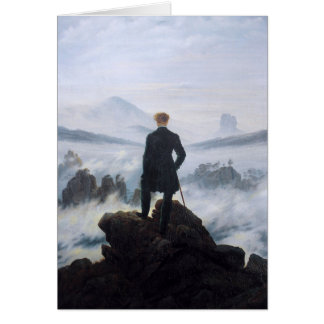 CASPAR DAVID FRIEDRICH - Wanderer above the sea Card