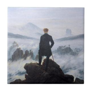 CASPAR DAVID FRIEDRICH - Wanderer above the sea Ceramic Tile